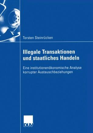 Illegale Transaktionen und staatliches Handeln