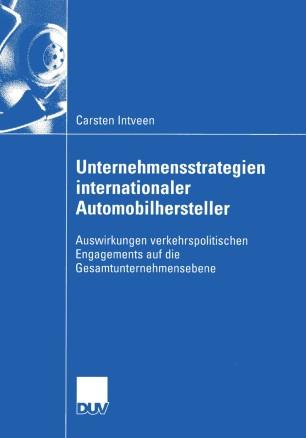 Unternehmensstrategien internationaler Automobilhersteller