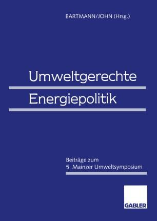 Umweltgerechte Energiepolitik