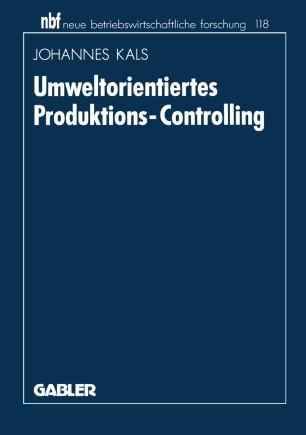 Umweltorientiertes Produktions-Controlling