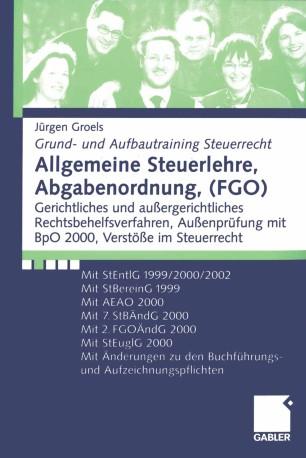 Allgemeine Steuerlehre, Abgabenordnung, (FGO) | SpringerLink