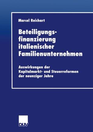 Beteiligungsfinanzierung italienischer Familienunternehmen