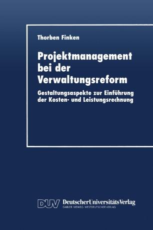 Projektmanagement bei der Verwaltungsreform