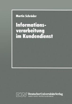 Informationsverarbeitung im Kundendienst