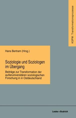 Soziologie und Soziologen im Übergang