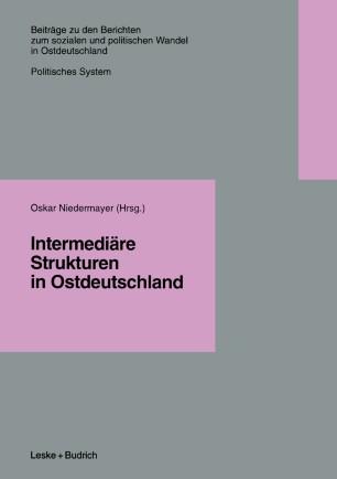 Intermediäre Strukturen in Ostdeutschland