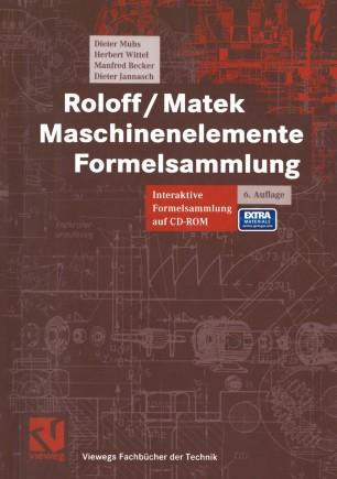 Roloff / Matek Maschinenelemen e Formelsammlung
