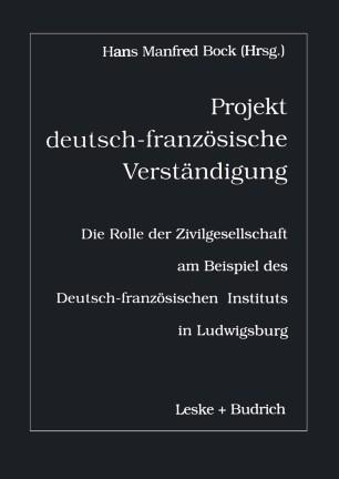 Projekt deutsch-französische Verständigung