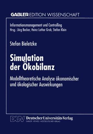 modelltheoretische analyse konomischer und kologischer auswirkungen - Okobilanz Beispiel