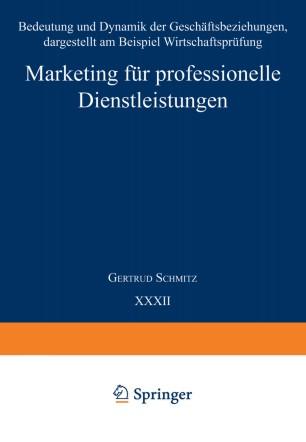 Marketing für professionelle Dienstleistungen