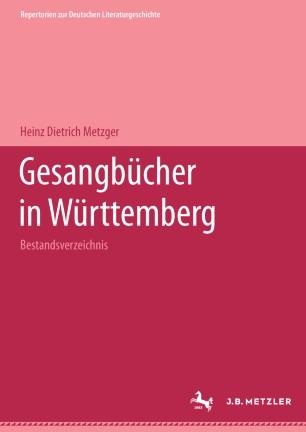 Gesangbücher in Württemberg