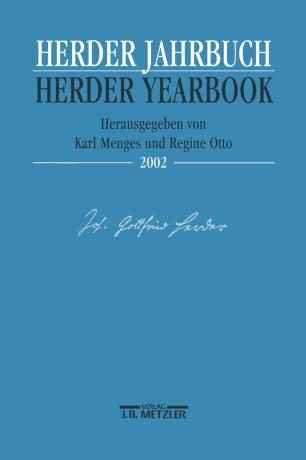 Herder Jahrbuch Herder Yearbook VI/2002