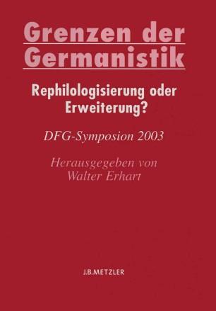 Grenzen der Germanistik