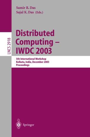 Distributed Computing - IWDC 2003