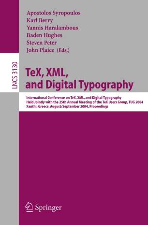 TeX, XML, and Digital Typography
