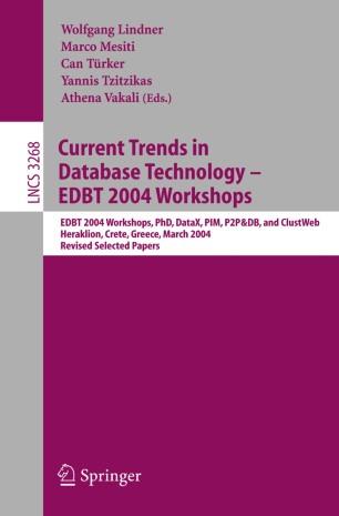 Current Trends in Database Technology - EDBT 2004 Workshops