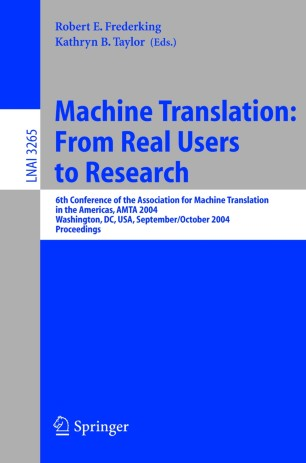 Machine Translation: From Real Users to Research