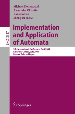 Implementation and Application of Automata