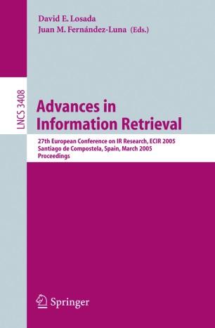 Advances in information retrieval : proceedings