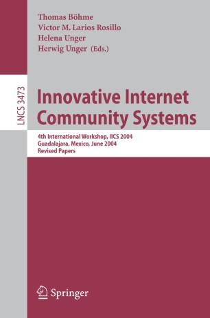 Innovative Internet Community Systems