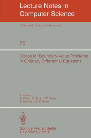 Codes for Boundary-Value Problems in Ordinary Differential Equations