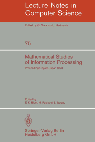 Mathematical Studies of Information Processing