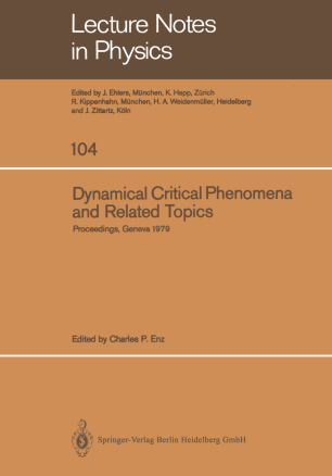 Dynamical Critical Phenomena and Related Topics