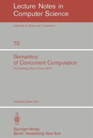 Semantics of Concurrent Computation