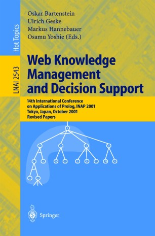 Web Knowledge Management and Decision Support | SpringerLink