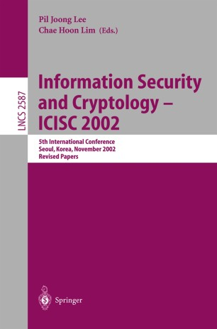 Information Security and Cryptology — ICISC 2002