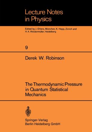 The Thermodynamic Pressure in Quantum Statistical Mechanics