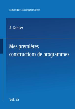 Mes premières constructions de programmes