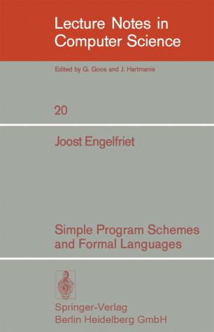 Simple Program Schemes and Formal Languages