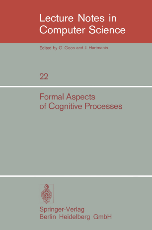 Formal Aspects of Cognitive Processes