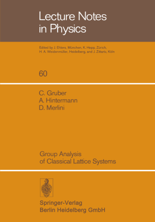 Group Analysis of Classical Lattice Systems