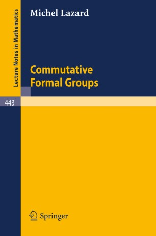 Commutative Formal Groups