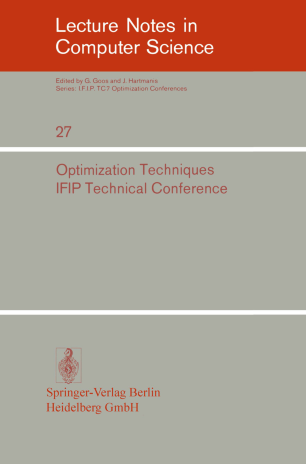 Optimization Techniques IFIP Technical Conference Novosibirsk, July 1–7, 1974