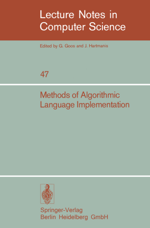 Methods of Algorithmic Language Implementation