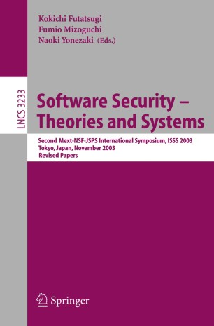 Software Security - Theories and Systems