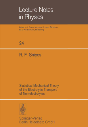 Statistical Mechanical Theory of the Electrolytic Transport of Non-electrolytes