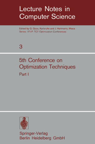 5th Conference on Optimization Techniques Part I