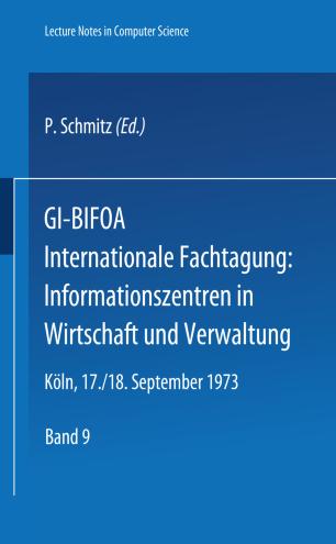 GI-BIFOA Internationale Fachtagung: Informationszentren in Wirtschaft und Verwaltung