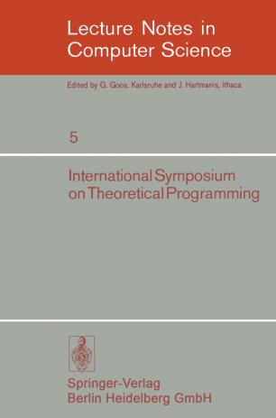 International Symposium on Theoretical Programming