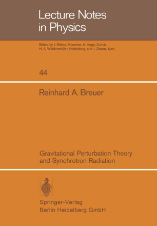Gravitational Perturbation Theory and Synchrotron Radiation