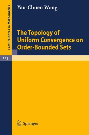 The topology of uniform convergence on order bounded sets for Uniform spaces pdf