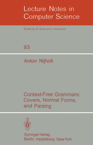 Context-free grammars: Covers, normal forms, and parsing