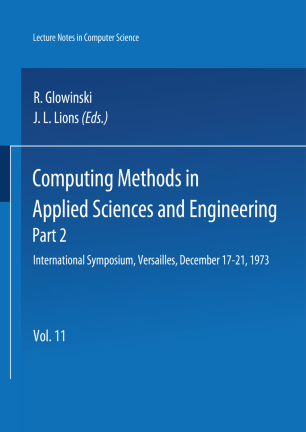 Computing Methods in Applied Sciences and Engineering Part 2