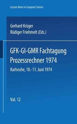 GFK-GI-GMR Fachtagung Prozessrechner 1974