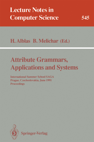 Attribute Grammars, Applications and Systems