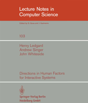 Directions in Human Factors for Interactive Systems
